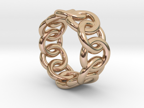 Chain Ring 15 – Italian Size 15 in 14k Rose Gold Plated