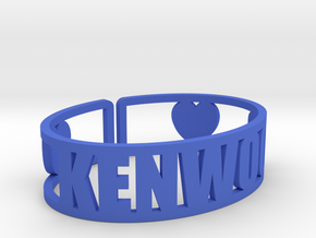 Kenwood Cuff in Blue Strong & Flexible Polished