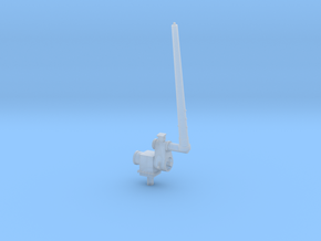 1/96 scale Aft Antenna - Single Right side in Frosted Ultra Detail