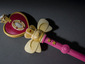 Sailor Moon Spiral Heart Rod 15in in White Strong & Flexible