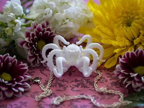 Blooming Octopus Pendant in White Strong & Flexible Polished