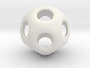 Conway Polyhedron {lseehD} in White Strong & Flexible