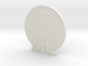 Giant Penny in White Strong & Flexible