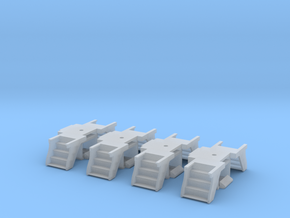 N Scale 4PK Steps for Atlas/ConCor/Rivarossi Heavy in Smoothest Fine Detail Plastic