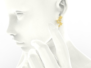 Earring Star 1011 in 18k Gold Plated