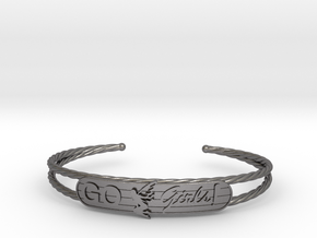 Go Girls Bracelet in Polished Nickel Steel