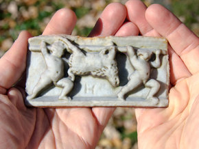 "Roman Boar Carriers (4.7"") in Full Color Sandstone"