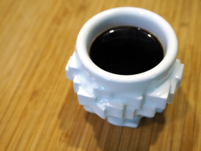 Espresso Cubed in Gloss White Porcelain