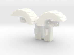 Ultra Magnus Arm Wheels (Shallow Version) in White Strong & Flexible Polished