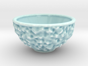 DRAW bowl - ceramic asteroid in Gloss Celadon Green Porcelain