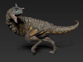 Carnotaurus middle size in White Strong & Flexible