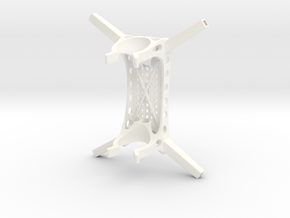 Protected Honeycomb Drone Frame in White Strong & Flexible Polished