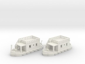 2 Hausboote Set 1 - 1:220 (Z scale)  in White Strong & Flexible