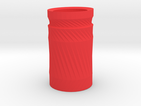Simple cup 2 in Red Strong & Flexible Polished