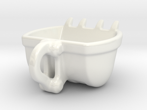 Bulldozer Mug - medium 120ml in Gloss White Porcelain