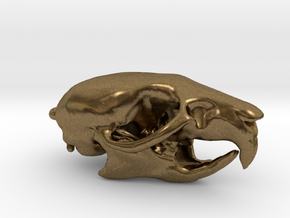 Mouse Skull Pendant with loop in Raw Bronze