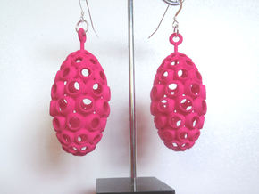 Ovum Plastic Earrings in Pink Strong & Flexible Polished