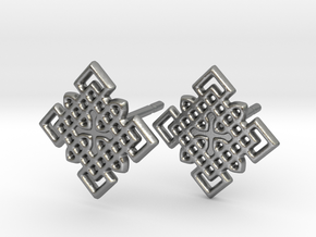 Celtic Cross Pattern Posts in Raw Silver