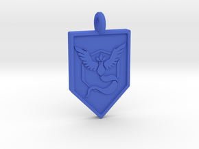 Team Mystic Badge Keychain in Blue Strong & Flexible Polished