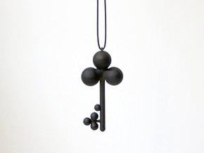 Clover Key Pendant 1 in Black Strong & Flexible