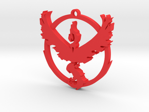 Team Valor Pendant in Red Strong & Flexible Polished