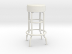 1-12.Metal Stool (not full size) in White Strong & Flexible