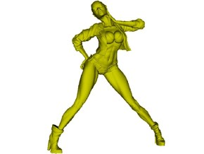 1/35 scale nose-art striptease dancer figure B in Frosted Ultra Detail