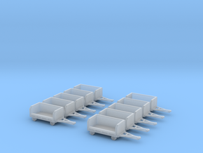 GSE 1:400 10x Baggage Cart Empty in Frosted Ultra Detail