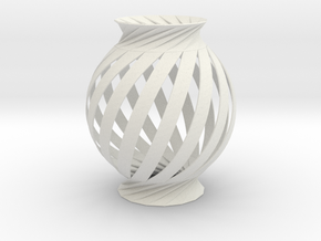 Lamp Ball Twist Spiral Small Scale in White Strong & Flexible