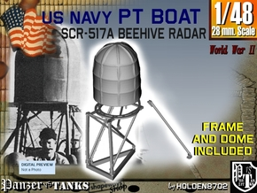 1-48 PT Boat Beehive Radar SET in Frosted Ultra Detail