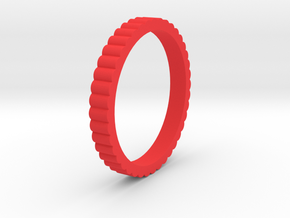 """Spinning Gear - Ingranaggi"" Bangle 1cm in Red Strong & Flexible Polished"