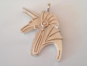 Pendentif-Pendant Anubis in Polished Silver