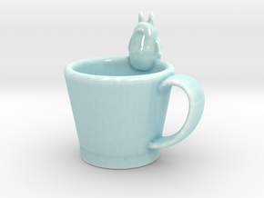 Totoro Cup in Gloss Celadon Green Porcelain