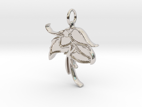 Serene Bloom - Small in Rhodium Plated