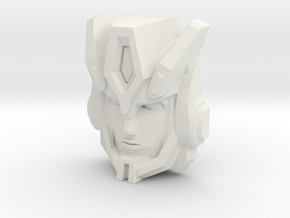 Cybertron Override Faceplate (Titans Return) in White Strong & Flexible