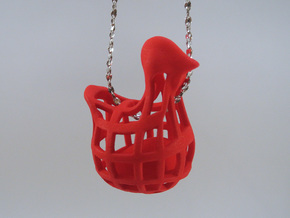 Chicken before Egg - Pendant in White Strong & Flexible Polished