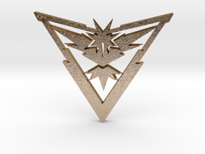 Team Instinct Pendant in Polished Gold Steel