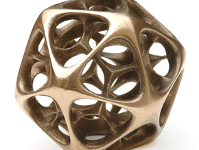Icosahedron IV, medium in White Strong & Flexible