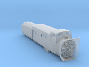 Railroad SnowPlow With Tender - Zscale in Frosted Ultra Detail