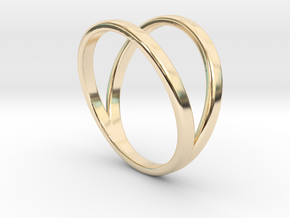 Split Ring Size 11 in 14k Gold Plated