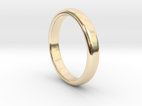 Simple Band Size 5 in 14k Gold Plated