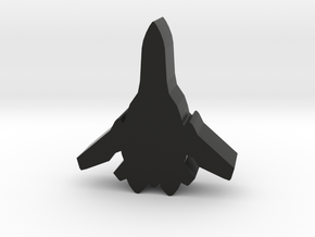 Game Piece, Frontier Aerospace Fighter in Black Strong & Flexible