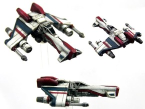 Kihraxz Style Vaskai Starfighter - Variant A in Frosted Extreme Detail
