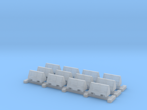 N Scale 12 Road Barriers in Frosted Ultra Detail