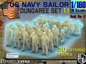 1-160 US Navy Dungaree Set 11 in Frosted Extreme Detail
