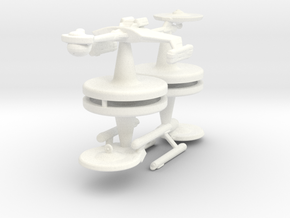 Game piece player ships in White Strong & Flexible Polished