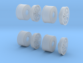 1967 Turbine Wheels 1-20 scale (full Set) in Frosted Ultra Detail