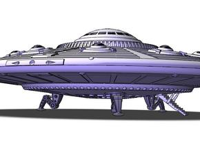 """5"""" dia. Scout Ship UFO, Flying Saucer Kit-November in White Strong & Flexible Polished"""
