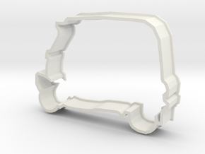 Ricksha Cookie Cutter in White Strong & Flexible