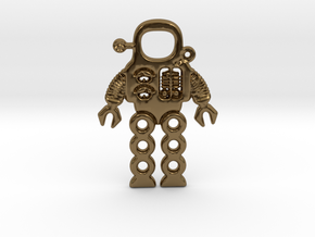 Mars Robot Pendant in Polished Bronze